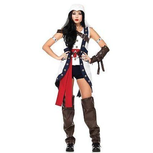 Leg Avenue Adult Womens Connor Girl Assassins Creed Halloween
