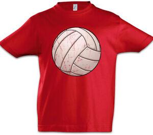 Volleyball-I-Kinder-Jungen-T-Shirt-Player-Ball-Court-Field-Spieler-Volleyballer