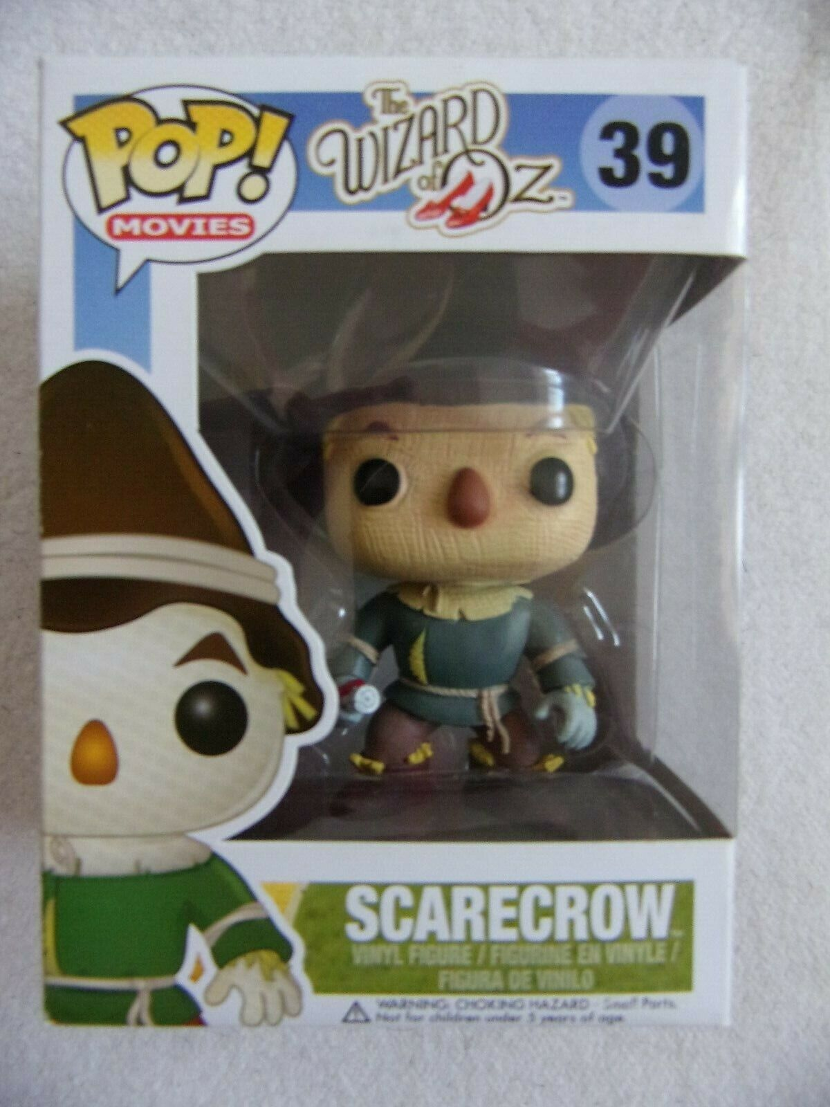 Funko Pop  SCARECROW THE WIZARD OF OZ 39 New as picturot Movies with Protector