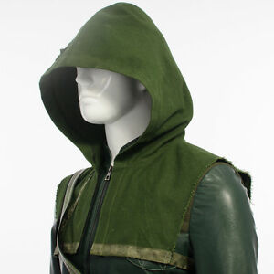 Green-Arrow-Oliver-Queen-Halloween-Cosplay-Costume-Hood-only-FREE-Shipping