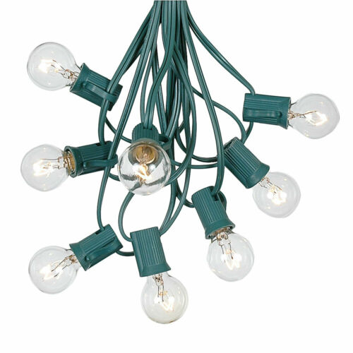 100 Foot Globe Patio Outdoor String Lights Set of 125 G50//G40//G30 Clear Bulbs