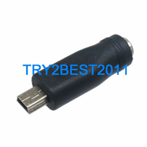 2x Mini USB 5 Pin Male To 5.5 x 2.1mm Female DC Power Converter Charger Adapter