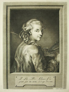 Self-Portrait-of-Stone-Jean-Baptiste-Marie-c1820-Sc-Muller-Johann-Gotthard-Von