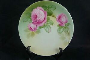 "Ceramics & Porcelain y7-w6-a8 Great Vintage Hand Painted Porcelain Plate Bavaria 6"""