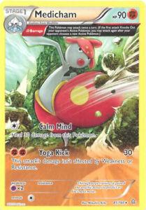 PRIMAL CLASH POKEMON RARE CARD NEW MINT MEDICHAM 81//160