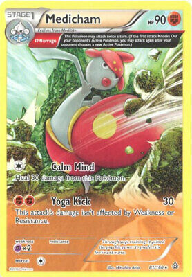 3 x Pokemon Card - NM//Mint MEDICHAM rare XY Primal Clash 81//160