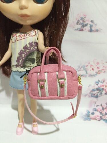 Dollhouse Miniatures Pink/&White Fashion Bag For Blythe//Barbie//Jenny//Pullip Doll