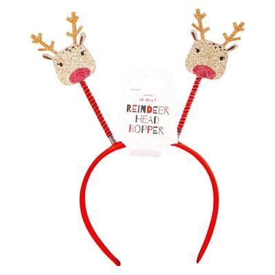 Red Xmas Tree Head Bopper 23x25x1.5 CM Christmas Novelty Headband Head Boppers