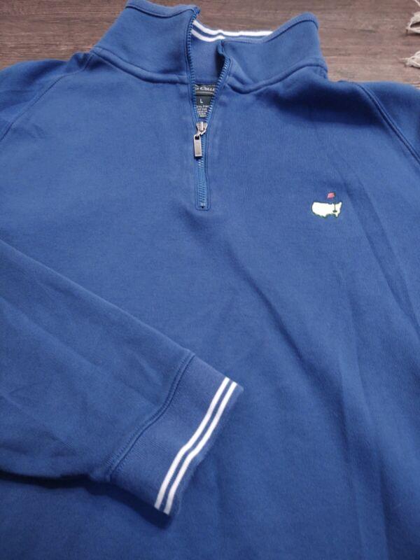 Diligent Masters Collection Women's 1/4 Zip 100% Pima Cotton Large Blue Ls Jacket