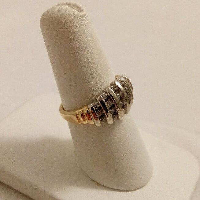14K YELLOW gold 0.5 CT DIAMOND RING SZ 6.75