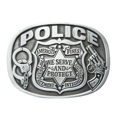 100% Vero Police Ii Fibbia Cintura United States Of America Cop Usa Us Polizia Poliziotto-mostra Il Titolo Originale Prezzo Pazzesco