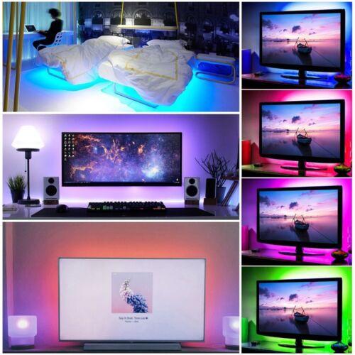 0.5-5M 5050 RGB LED Strip DC 5V USB LED Light Strip Flexible Lighting Black pcb