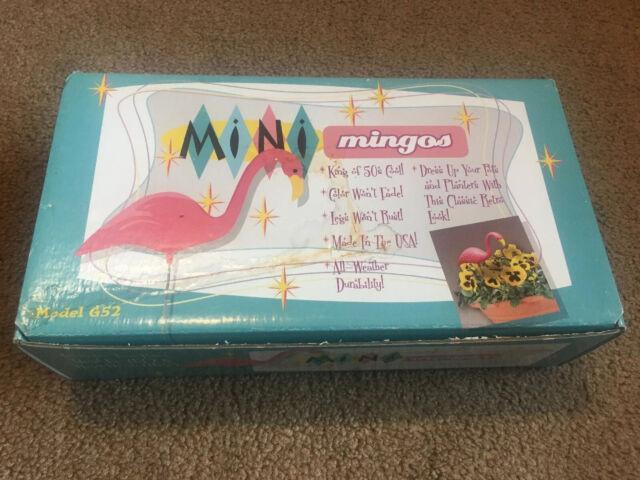 G52 Bloem Mini Mingo Flamingo Garden Statue 2-Pack