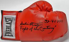 "Smokin Joe Frazier ""Fight of the Century 32-4-1 27 KOs"" Signed Boxing Glove PSA"