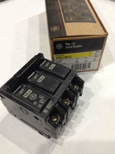 Box Of 3 THQL32015 GE Circuit Breaker 3 Pole 15 Amp 240V New