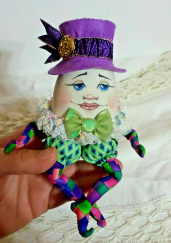 """FAIRY SPROUT PINDOLL~Brooch~Ornament~Hat Pin~Paula McGee 4/"""" L cloth doll pattern"""