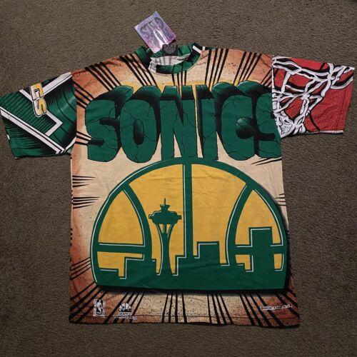 VTG Seattle Sonics T Shirt NBA Magic Johnson T's A