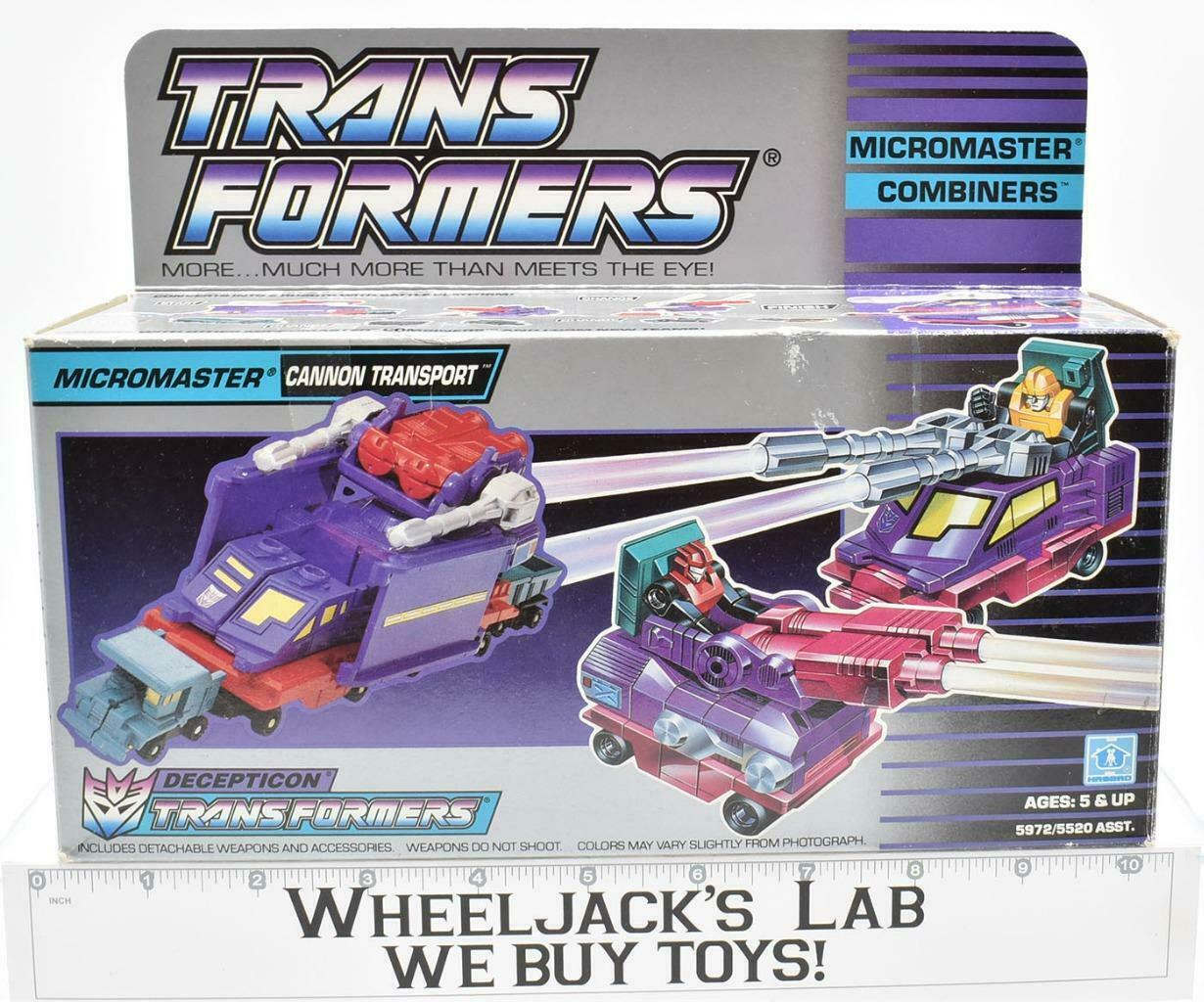 Cannon Transport Micromaster MIB 100% Complete D 1990 Vintage G1 Transformers