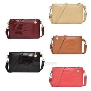 3364fce7fa Women PU Leather Satchel Handbag Shoulder Bag Tote Purse Messenger ...