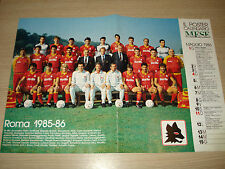 POSTER 41x28 LA SQUADRA AS ROMA 1985-1986 85/86 CALENDARIO GUERIN SPORTIVO MESE