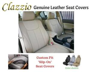 Image Is Loading Clazzio Genuine Leather Seat Covers For 2010 2017