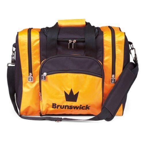 Brunswick EDGE Single Tote 1 Ball Bowling Bag w// Shoe Pocket Color Black//Orange