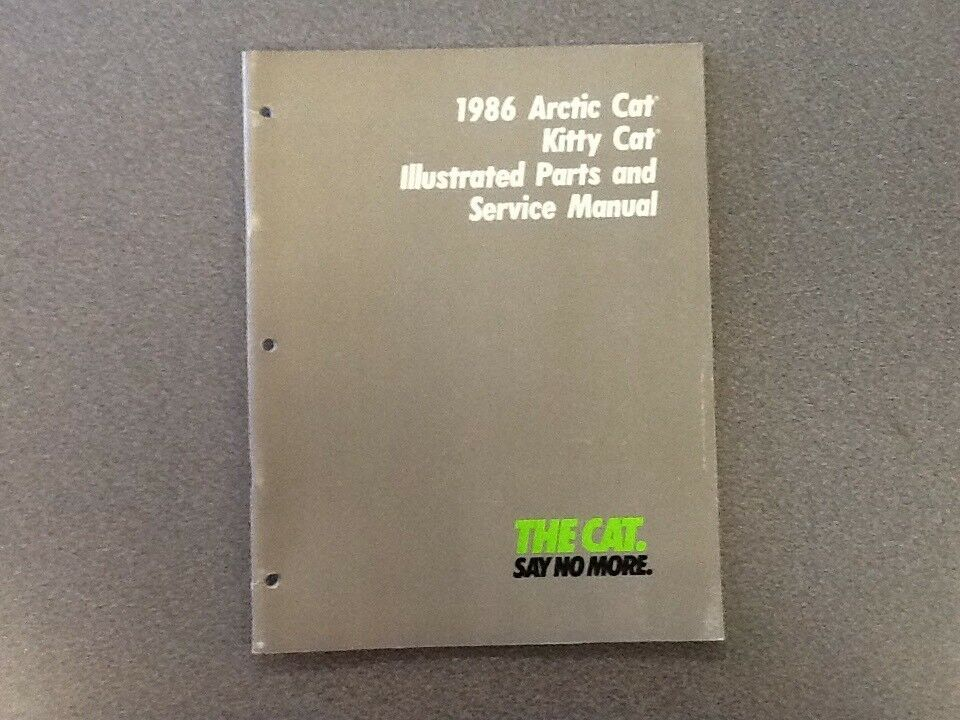 ARCTIC CAT OEM SERVICE MANUAL 1986 KITTY CAT 2254-325