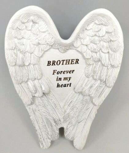 Graveside Memorial Remembrance 10cm Angel Wing Grave Stone Cemetery Plaque
