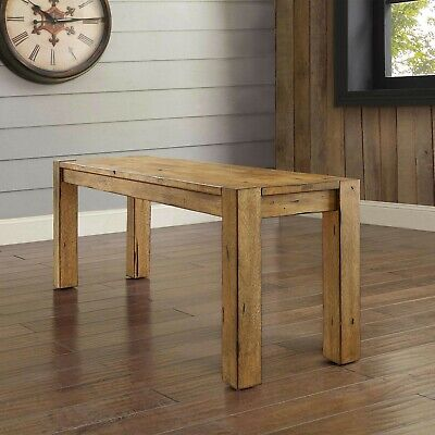 Rustic Dining Table Bench Seat Farmhouse Solid Wood Benches For Kitchen  Tables 764053505249 | eBay