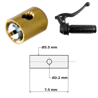 KIT CABLE GAINE DACCELERATEUR GAZ SERRE CABLE CYCLOMOTEUR MOBYLETTE CARBURATEUR STANDARD DELLORTO 3x3MM /Ø1.2MM 2.5M