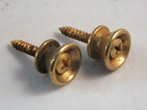 Vintage Relic Aged STRATOCASTER GOLD STRAP PINS for 50/'s /& 60/'s Strats