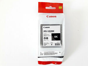 CANON-PFI-102-BK-Black-130ml-iPF-500-600-700-765-CARTOUCHE-ORIGINALE-GENUINE-New