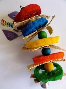DICKY-BIRD-TOYS-LARGE-LOOFAH-KEBAB-PARROT-TOY-FREE-POSTAGE-ALL-ORDERS-50