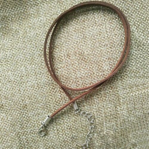 10pcs Black Brown Suede Leather String Necklace Cord Jewelry Making DIY Craft