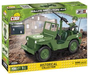 Cobi 2399 (91pcs) - Willys MB 1/4 Ton 4x4 Vehicle - Building Blocks - WWII