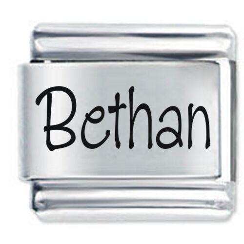 Bethan Nombre-Daisy Charm se adapta tamaño clásico italiano encantos Pulsera Nomination
