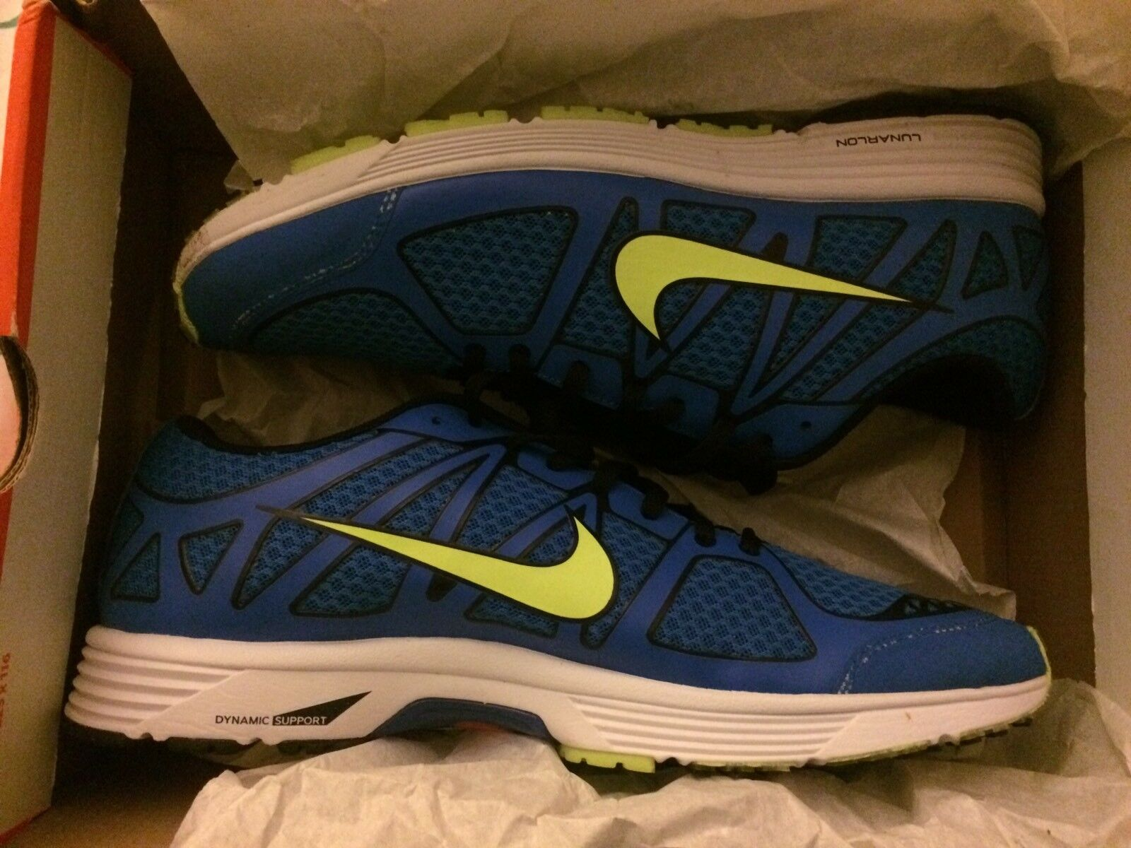 Nike Lunarapeed Lite+ Running XC Triathlon 11 SOAR VOLT BLACK WHITE 487343 470