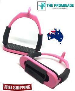 Horse riding Eye Flexi safety Stirrups Pink Stainless steel Bendy Iron