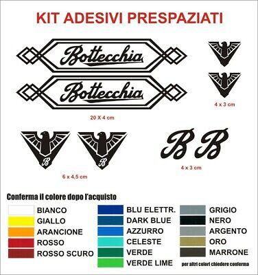 KIT Adesivi Bottecchia Bici Vintage Alta qualità sticker decals Epoca Bike logo