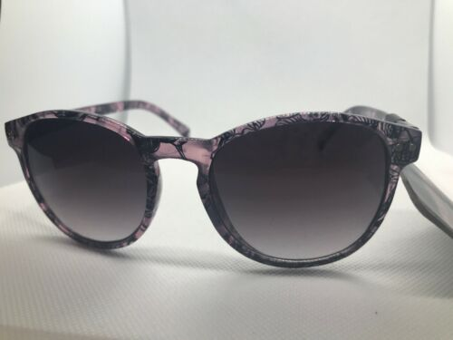 NEW Revlon Womens Clear Tinted Floral Sunglasses 100/% UV protection RVN 48 Purp