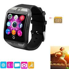 Black Bluetooth Wrist Smart Watch SMS Call Reminder For LG G3 G4 G5 LS770 LS775