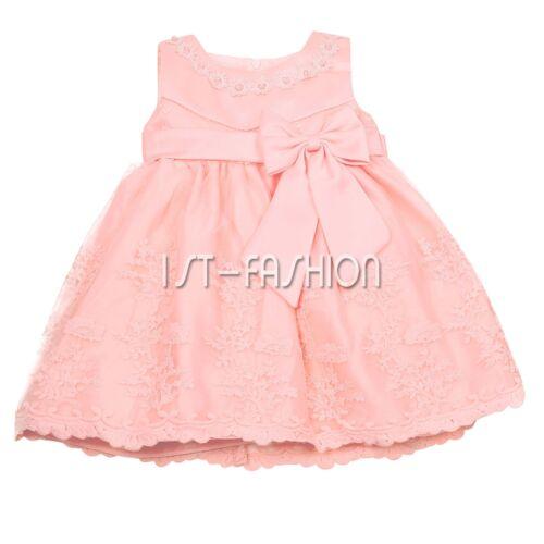 Babykleider Mädchen Festlich Blumen Baby Kleid Taufkleid Prinzessin Partykleid