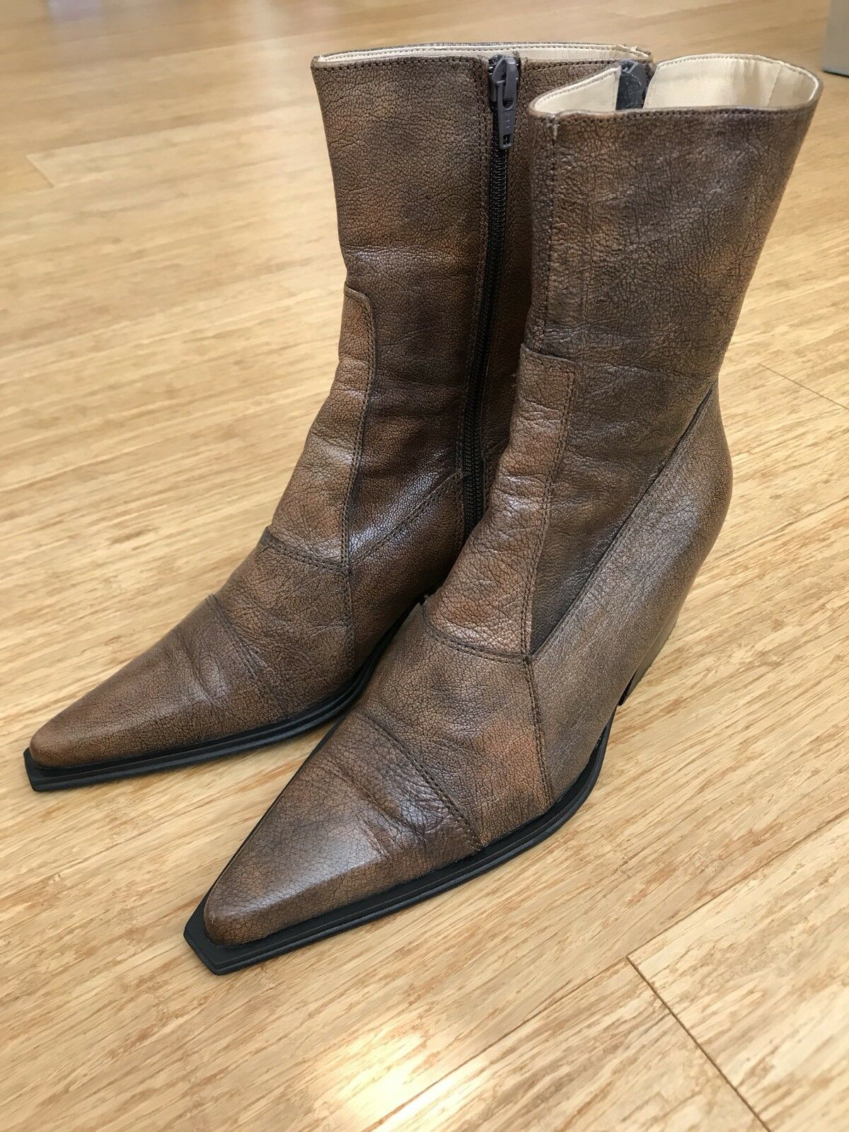 Coole Westernstiefel Cowboystiefel Boots Stiefelette Leder Echtleder 39