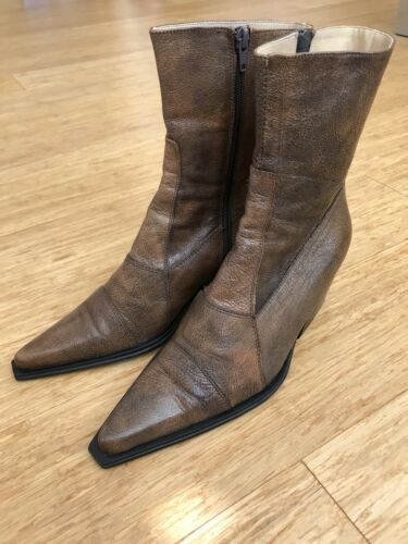 Westernstiefel Stiefelette Echtleder Coole Boots Cowboystiefel Leder 39 MVqpGLUSzj