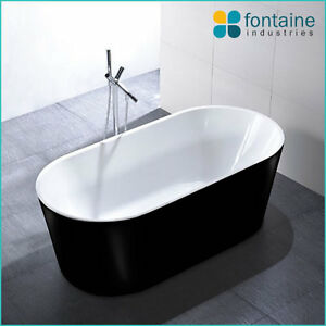 Image Is Loading Freestanding Bath Tub Bathtub Round Elegant Bathroom Black
