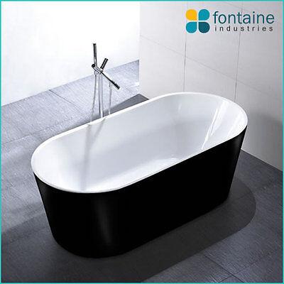 Freestanding Bath Tub Bathtub Round Elegant Bathroom Black 1500 NEW!