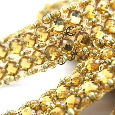 GOLD MIRROR SEQUIN beaded trim,trimming,costume,sequin edging,stones,beads,fashion,crafts,sewing,embellishment,decoration