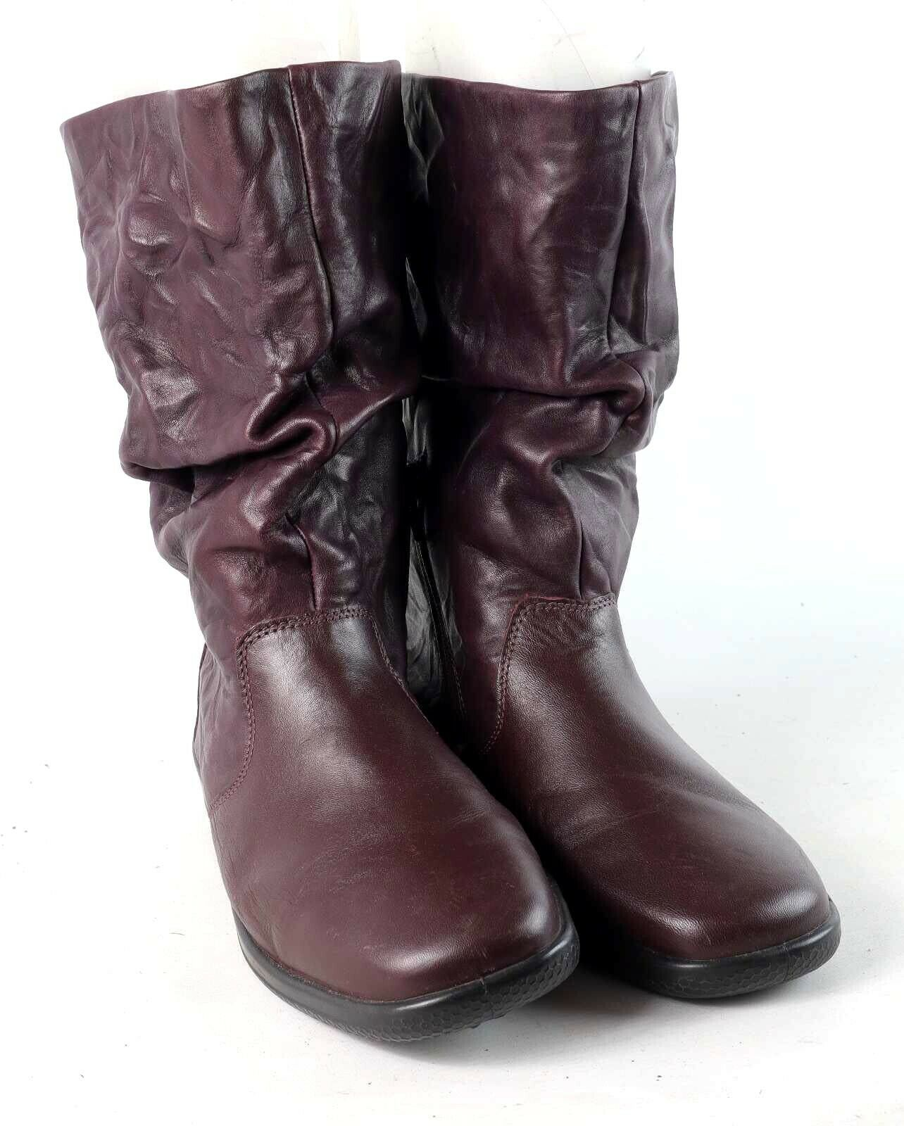 Hotter Womens UK Size 6.5 Purple Slouch Boots