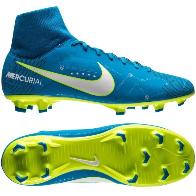 Nike Mercurial Victory VI FG 2017 Neymar JR NJR Dynamic Fit Soccer Shoes Blue