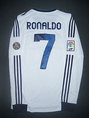 reputable site d98b6 31399 2012/2013 Adidas Real Madrid Cristiano Ronaldo Long Sleeve Jersey Shirt LS  Home | eBay